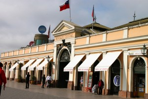 Exterior of Santiago's huge Central Market.