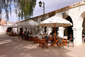 A cafe in the main square of San Pedro de Atacama.