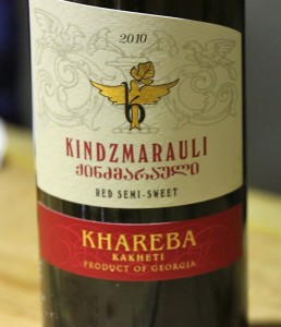 The Khareba Winery identified on this label is one of many winemakers in Kakheti, Georgia's biggest wine region, east of Tbilisi.