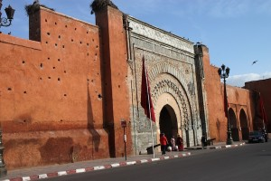 Bab Agnaou, one of many gates in Marrakech's city walls.