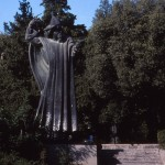 Statue of Croatia's Bishop Gregory of Nin, seen just outside Diocletian's Palace. (The author took this photo in 1993. The statue has not changed but the sun was shining during the earlier visit.)