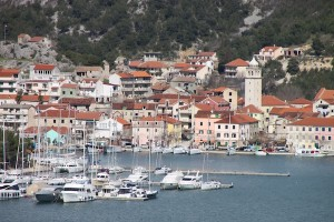 The village of Skradin, brought closer with a zoom lens.