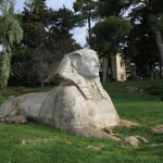 Zadar boasts its own admittedly small sphinx, seen in a local park.