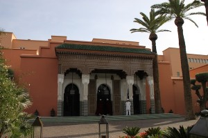 The recently refurbished entrance to La Mamounia.