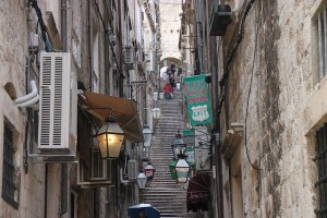 Street in Dubrovnik's Old Town that is essentially a stairway.