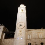 Clock Tower, which rises above Dubrovnik's city walls at one end of the Placa.