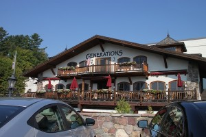 Exterior of the Generations restaurant, which is part of the Golden Arrow Lakeside Resort in Lake Placid, N.Y.