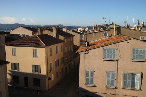 Picture-postcard view of Saint-Tropez from the top floor of the village's Hotel de Paris.