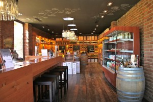 The shop at the Metatic Vineyards in one of Chile's wine regions.