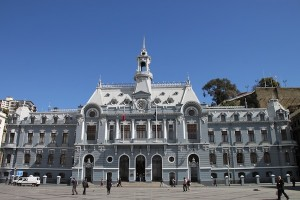 The former Valparaiso city hall, now used by the Chilean Navy, on Sotomayor Square.