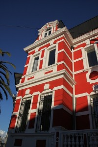 An exterior view of Palacio Astoreca, a recently opened hotel, created by converting a large Victorian home, located on Alegre hill in Valparaiso's UNESCO-protected area.