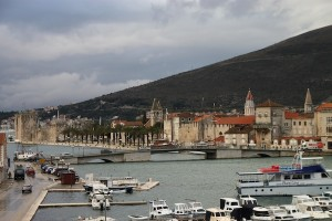 View of Trogir's Old Town from the newer side of town on the mainland.