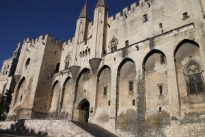 A closer look at the 14th century papal palace in Avignon.