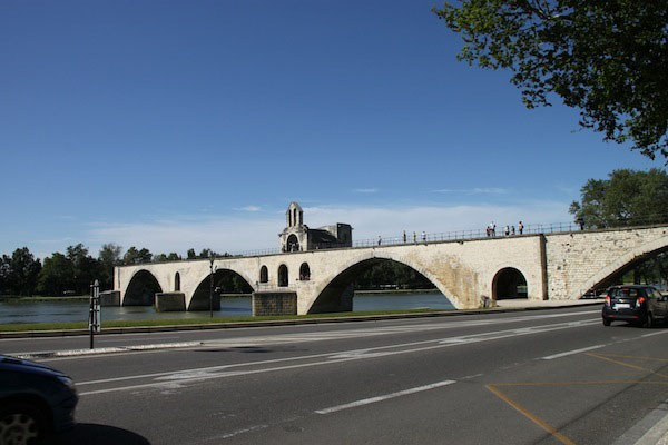 The Pont d'Avignon, Avignon's bridge of legend and song.