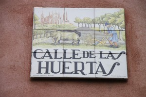 One of Madrid's many charming painted-tile street signs, in this case, signifying the street where the Vi Cool restaurant is found.