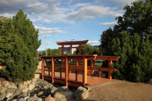 The Japanese Garden in Kamloops' Riverside Park.