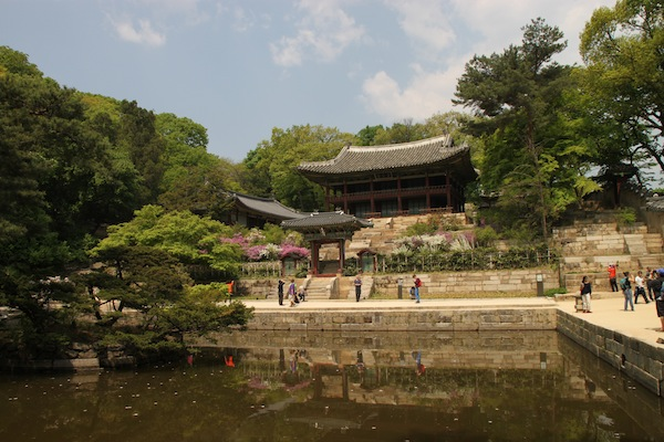 Buyongi Pond inside the Secret Garden at Seoul's Changdeok Palace.
