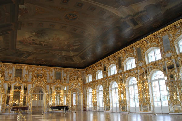 The truly grand Grand Hall in Catherine Palace.