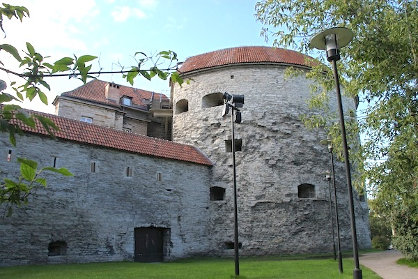 An oversized tower that is part of Tallinn's medieval city walls. This one is called Fat Margaret.